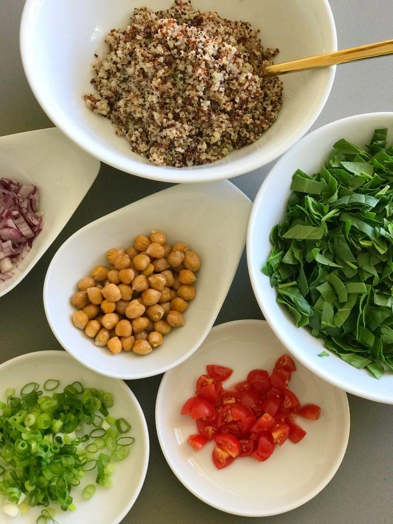 Zutaten für den Superfood-Salat