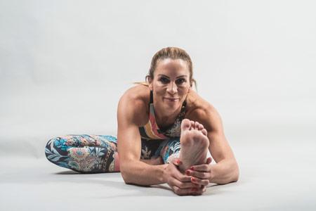 Christine Ronge nach ihrer Yogalehrer Ausbildung