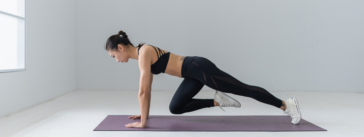 Fitnessübungen ohne Geräte