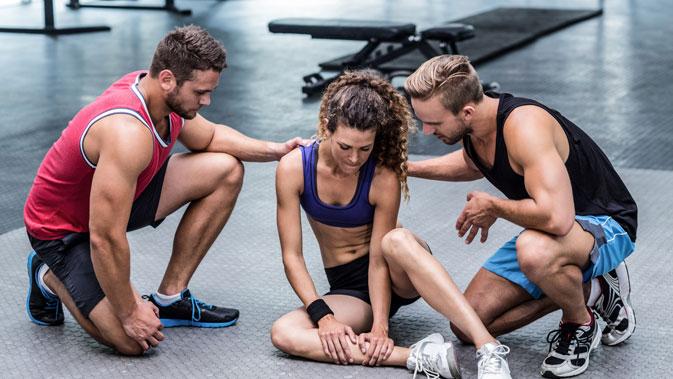 Eine Verletzung beim Training kann schnell passieren.