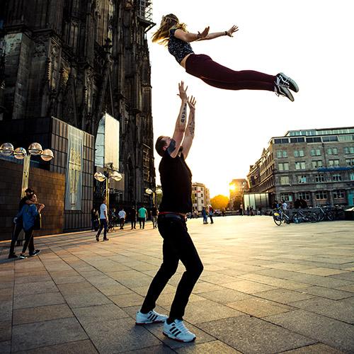 Stefan betreibt mit großer Leidenschaft karnevalistischen Tanzsport in der Hauptstadt des Karnevals - Köln.
