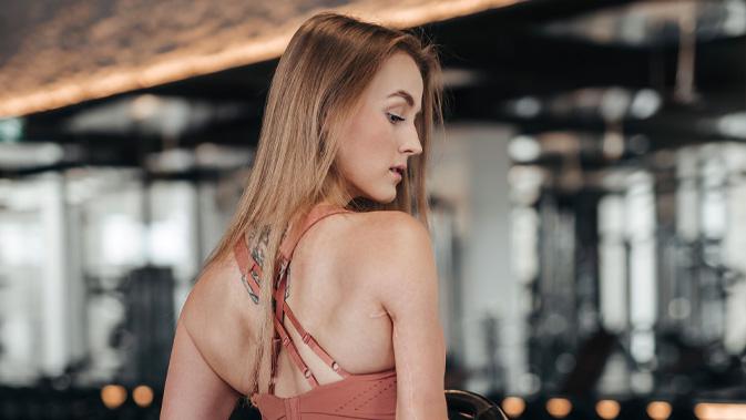 Vanessa bei einer ihrer Lieblingsbeschäftigungen - Training im Fitnessstudio.