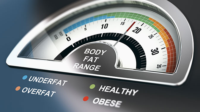 Die Messung mit einer Körperfettwaage ist meist eher ungenau.