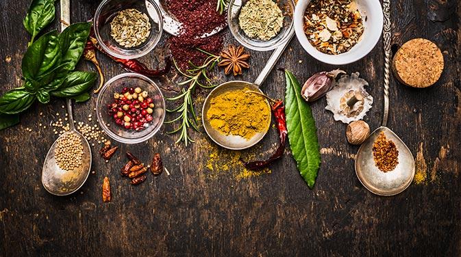 In der Ayurvedischen Ernährung spielen Gewürze eine große Rolle.